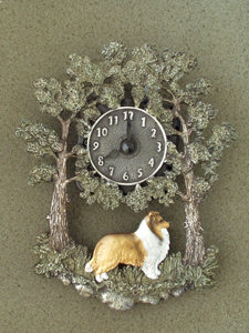Sheltie - Wall Clock metal