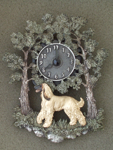 Afghan Hound - Wall Clock metal