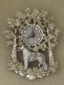 Irish Wolfhound - Wall Clock metal