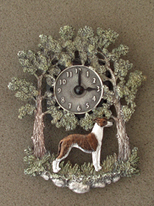 Whippet - Wall Clock metal