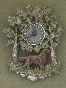 German Longhaired Pointer - Wall Clock metal
