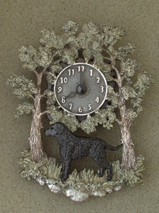 Curly Coated Retriever - Wall Clock metal