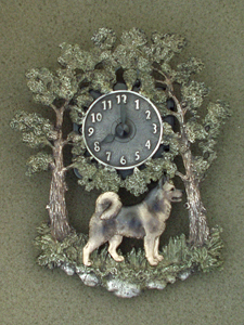 Jämthund - Wall Clock metal