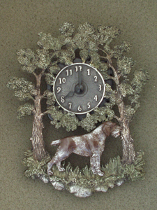 German Wirehaired Pointer - Wall Clock metal