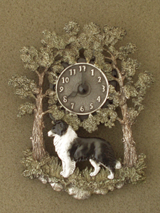 Border Collie - Wall Clock metal
