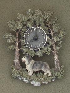 Swedish Vallhund - Wall Clock metal