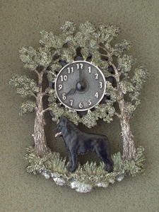 Schipperke - Wall Clock metal