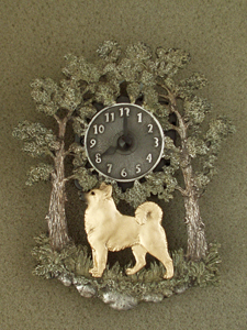 Norwegian Buhund - Wall Clock metal