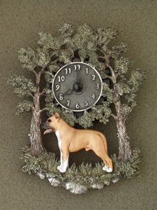 American Staffordshire Terrier - Wall Clock metal