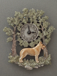 Saarloos Wolfhound - Wall Clock metal