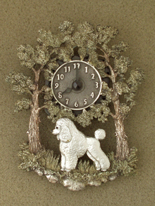Poodle Baby - Wall Clock metal