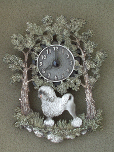 Lion Dog - Wall Clock metal