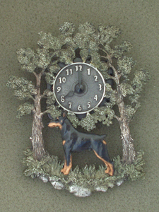 Dobermann - Wall Clock metal