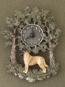 Belgian Malinois - Wall Clock metal