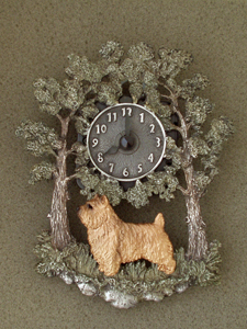 Norwich terrier - Wall Clock metal