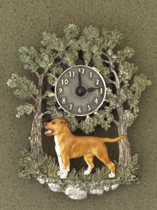 American Pit Bull Terrier - Wall Clock metal
