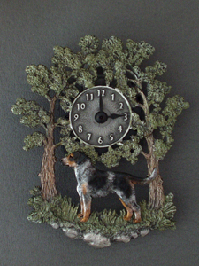 Bohemian Spotted Dog - Wall Clock metal