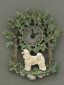 Chinese Crested Dog - Powderpuff  - Wall Clock metal
