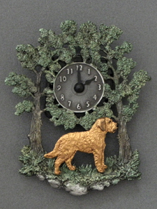 Styrian Coarse haired hound - Wall Clock metal
