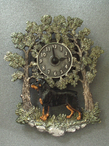 Rottweiler - Wall Clock metal
