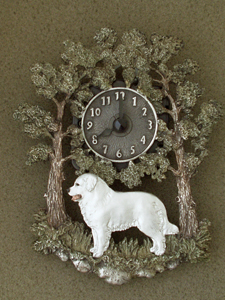 Kuvasz - Wall Clock metal