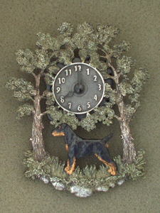 German Hunt Terrier - Wall Clock metal