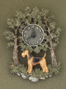Airedale Terrier - Wall Clock metal