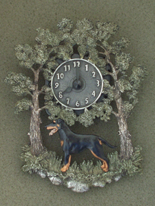 Manchester Terrier - Wall Clock metal