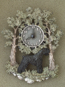 Black Russian Terrier - Wall Clock metal