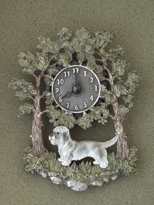 Dandie Dinmont Terrier - Wall Clock metal