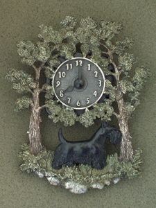 Scotish Terrier - Wall Clock metal
