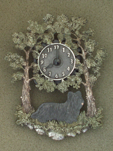Skye Terrier - Wall Clock metal
