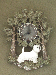 West Highland White Terrier - Wall Clock metal