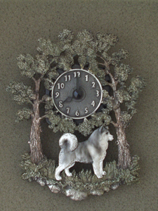Alaskan Malamute - Wall Clock metal