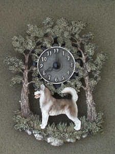 Siberian Husky - Wall Clock metal