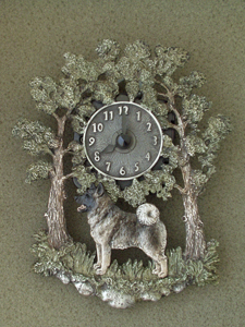 Norwegian Elkhound - Wall Clock metal
