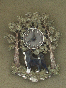 Karelian Beardog - Wall Clock metal