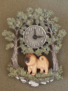 Chow-chow - Wall Clock metal