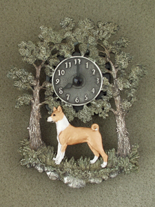 Basenji - Wall Clock metal