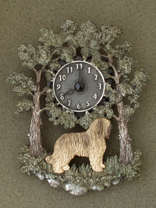 Briard - Wall Clock metal