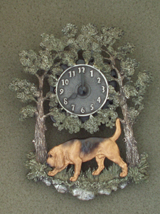 Bloodhound - Wall Clock metal