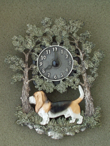 Basset Hound - Wall Clock metal