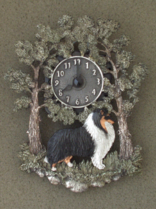 Collie Rough - Wall Clock metal